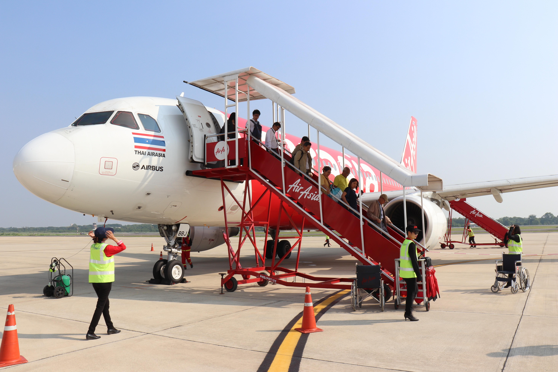 エアアジアでバンコクからピッサヌロークと市内までのアクセス方法