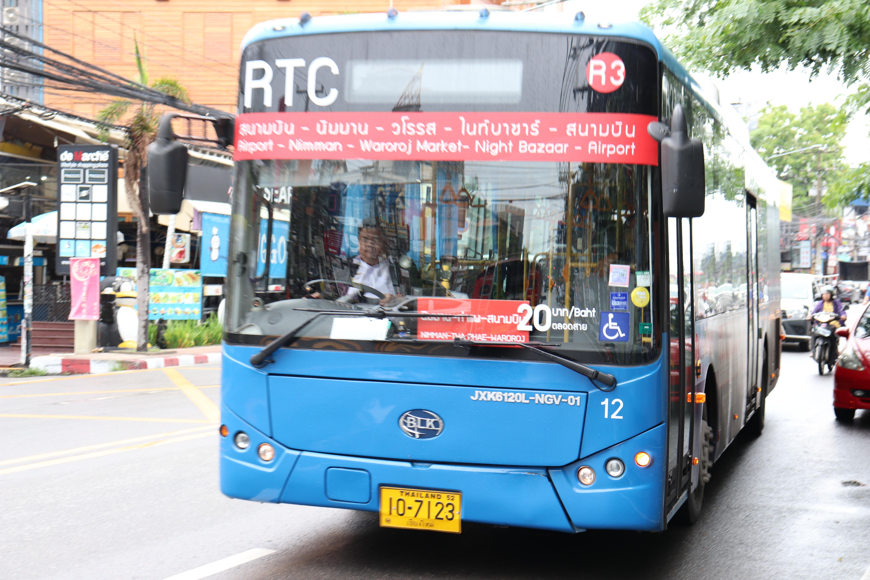 【チェンマイ】20バーツ均一「スマートバス」乗車レポと路線図